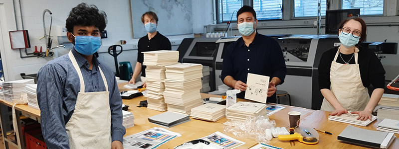 The students took everything into their own hands to produce the 500 copies (Print Media Technologies)