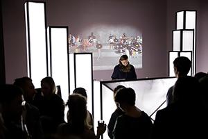 Die Studierenden realisierten in der Staatsgalerie einen interaktiven Club