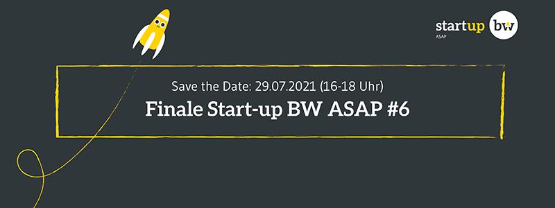 Das Finale des Start-up BW ASAP findet am 29. Juli 2021 virtuell statt.