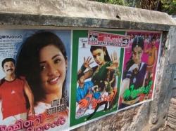 Filmplakate in Indien, hier gesehen in Alappuzha, Kerala. Foto: Oliver Zöllner