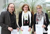 von links: Richard Stang, Christiane Rost und Julia Seguine