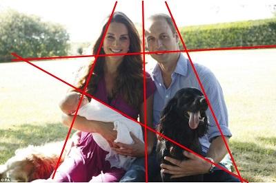 19. August 2013: Der Herzog und die Herzogin von Cambridge präsentieren ihren Stammhalter (Fotovorlage: Michael Middleton; Bearbeitung: Oliver Zöllner)