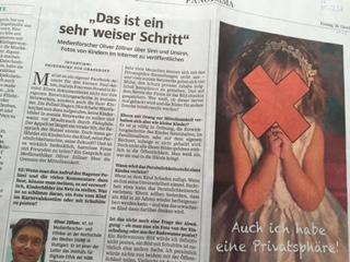 Warum man besser keine Fotos von Kindern im Internet verbreiten sollte, kommentierte Oliver Zöllner am 16.10.2015 im Interview mit der der Süddeutschen Zeitung (Foto: Oliver Zöllner)