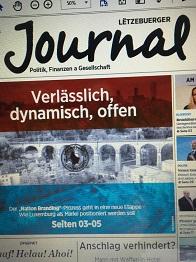 In seiner Ausgabe vom 29. Januar 2016 widmet sich das 'Lëtzebuerger Journal' in einem Schwerpunkt dem Nation Branding Luxemburgs (Foto/Bearbeitung: Oliver Zöllner)