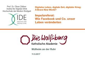 Diese Social Media. Machen. Etwas. Mit. Unserem. Leben. Vortrag an der Akademie des Bistums Essen 'Die Wolfsburg' in Mülheim an der Ruhr.