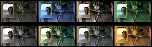 Screenshots der untersuchten Farbversionen