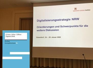 In seinem Impulsreferat betonte Oliver Zöllner die strategische Rolle der Digitalen Ethik in der weiteren Gestaltung der Gesellschaft (Foto/Collage: Oliver Zöllner).