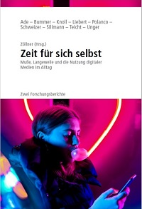 Das E-Book 'Zeit für sich selbst. Muße, Langeweile und die Nutzung digitaler Medien im Alltag' ist kostenlos herunterladbar (Cover/Foto: Milena Sprung; Screenshot: Oliver Zöllner).