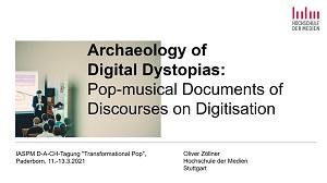 In seinem Vortrag zeichnete Oliver Zöllner die Widerspiegelungen digitaler Transformationen in der Popmusik nach.