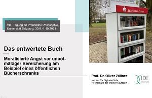 Oliver Zöllners Vortrag in Salzburg analysierte das Markieren von Büchern und von Menschen.