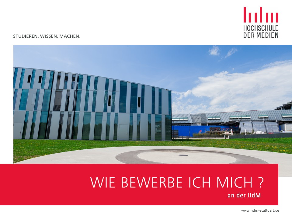Bewerbung Bachelorstudium Hochschule Der Medien 14